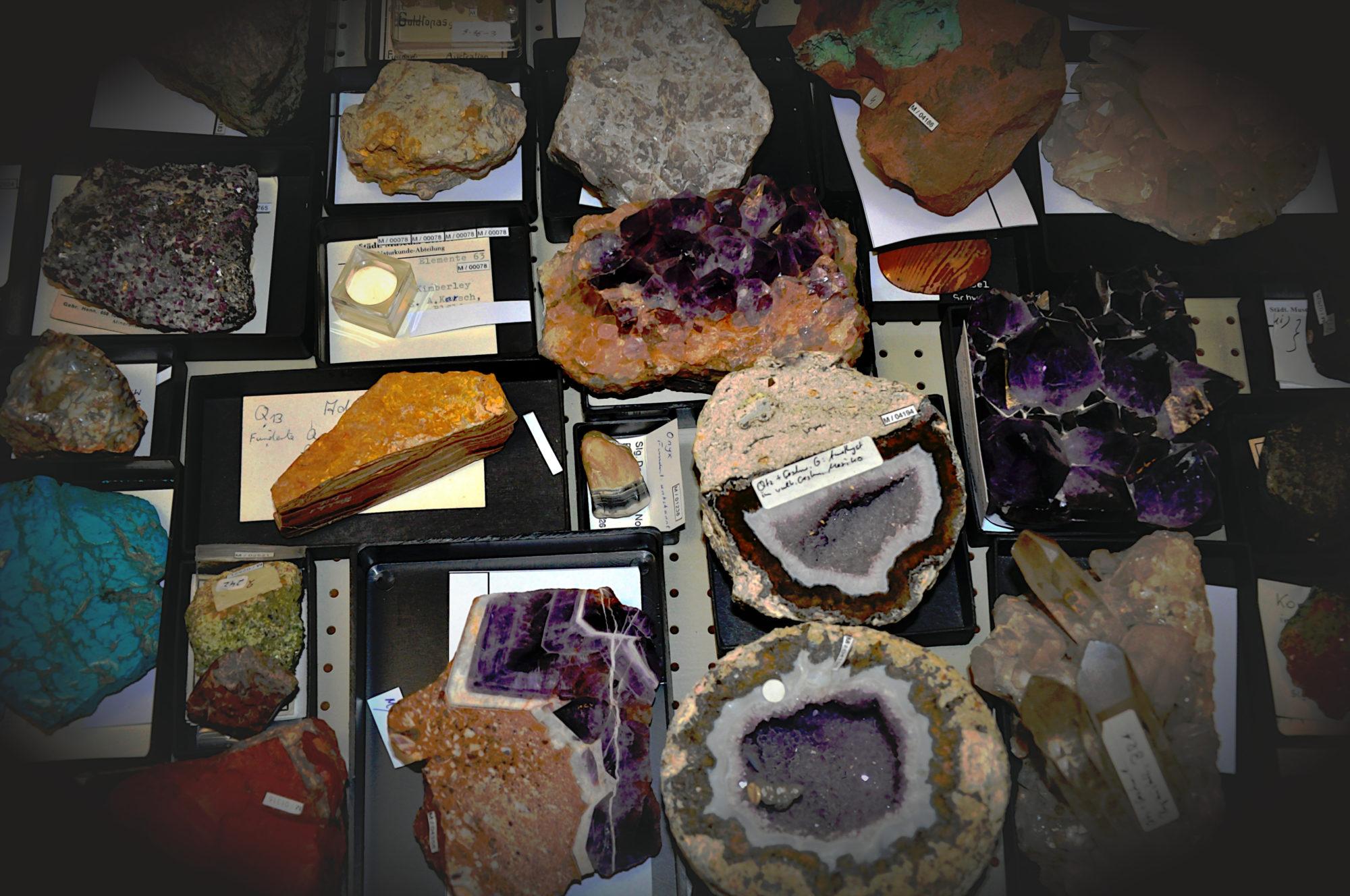 Bild einer Schublade aus dem geologischen Magazin